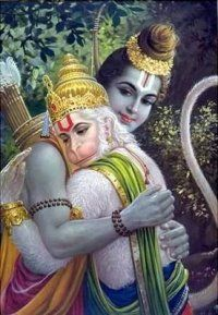Hanuman and Sri Ram get along.