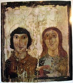 An icon of martyrs? 6th-7th century. Kiev museum.