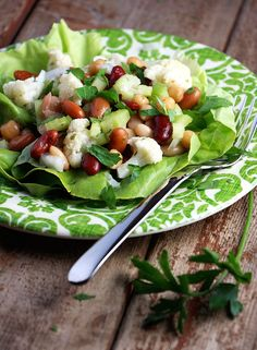 Healthy Cauliflower Bean Salad - Time to give an old favourite a healthy makeover!