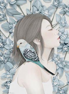 A delicadeza das ilustrações de Choi Mi Kyung