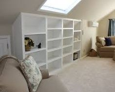 Image result for pics of knee wall built ins