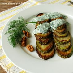 Podlucheni tikvichki-fried zucchini with dill garlic yogurt sauce