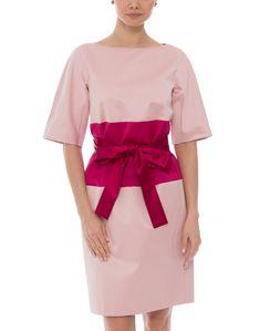 Pink and Fuchsia Colorblock Dress | Paule Ka | Halsbrook