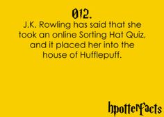 JK IS A HUFFLEPUFF?? FUCK YEAH!! sorry that sounded boastful I was just exited ignore that