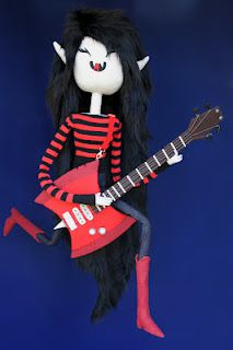 """Felt Mistress Marceline """"Drain The Red"""" made for Gallery Nucleus / Cartoon Network tribute show"""