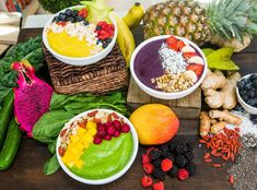 Start your day with a refreshing Springtime Super Smoothie Bowl by Ali Fedotowsky-Manno! For more tasty treats tune in to Home & Family weekdays at on Hallmark Channel! Lunch Smoothie, Smoothie Bowl, Healthy Smoothies, Healthy Drinks, Smoothie Recipes, Healthy Eating, Healthy Lunches, Raw Food Recipes, Healthy Recipes