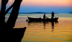 End of a day fishing on Uluabat Lake İn Bursa, Turkey.