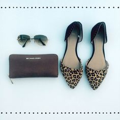 D'Orsay Flats   Worn once  Leopard d'Orsay flats  Stud detail at heel cap  Smoke free dog friendly home  GAP Shoes Flats & Loafers