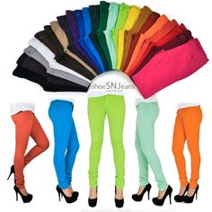 Women Skinny Colorful Jeggings Stretchy Sexy Pants Soft Leggings Pencil Zipper in Clothing, Shoes & Accessories, Women's Clothing, Jeans Plus Size Leggings, Women's Leggings, Burgundy Outfit, Casual Outfits, Fashion Outfits, Fashion Sets, Women's Fashion, Pants For Women, Clothes For Women
