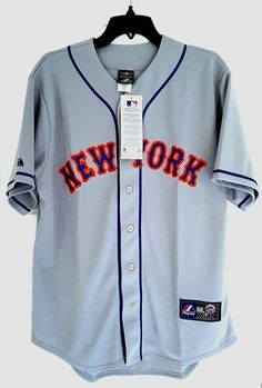 0f7c8eece MAJESTIC NEW YORK METS Official MLB Baseball Jersey Shirt Authentic New  Men s L