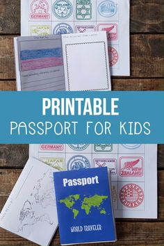 Printable Passport for Kids Are you studying different countries for geography or social studies? Try this printable passport for kids to keep track of the. Continents Activities, Multicultural Activities, Geography Activities, Geography For Kids, Geography Lessons, Maps For Kids, Teaching Geography, Social Studies Activities, Teaching Biology