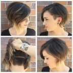 Soft undercut bob by Katie Sanchez