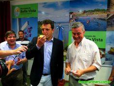 El intendente de Bella Vista, escribano Walter Chavez, recibió oficialmente al diputado nacional Sergio Massa con quien firmó un Convenio de Cooperación Mutua entre los gobiernos de Bella Vista y Tigre