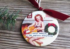 Hey, I found this really awesome Etsy listing at http://www.etsy.com/listing/160824943/pin-up-girl-christmas-ornament-with