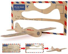 I Believe I Can Fly: Plane Mail Postcards