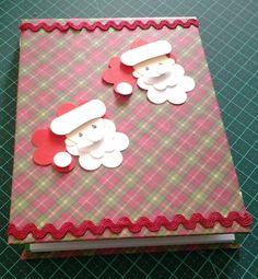 Bloquinho em cartonagem(motivo natal)