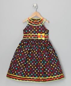 Rainbow Polka Dot Dress - Toddler & Girls