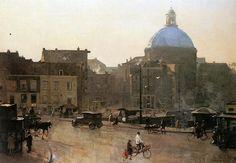 Cornelis Vreedenburgh (1880-1946)  View Of The Singel, Amsterdam, With The Koepelkerk Beyond 1940