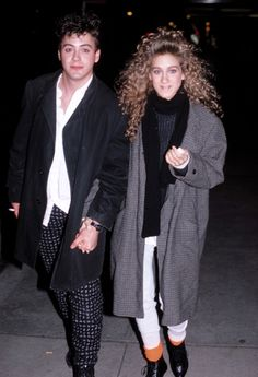 Robert Downey Jr. and Sarah Jessica Parker in 1985.