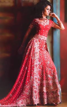 43 best Indian Wedding Gown images on Pinterest | Indian clothes ...
