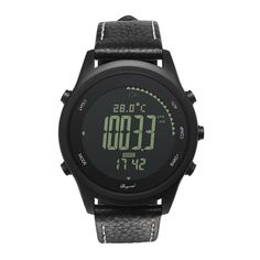 Efficient Spovan Men Women Sport Watch Fashion Ultra Thin Carbon Fiber Dial Red Genuine Leather Altimeter Barometer Multifunction Watches Men's Watches Digital Watches