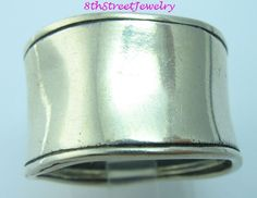 Silpada R0723 Sterling Silver 925 Wide Hammered Cuff Band Ring Size 10 #Silpada #Band