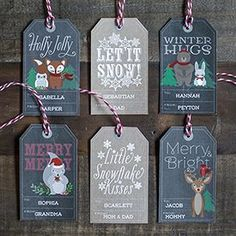 Woodland Christmas Gift Tags & Labels