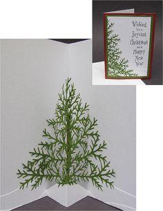pine tree pop-up card by cornerstonelae