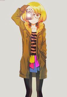 manga with camera | camera # anime # girl more girls anime manga illustration camera ...