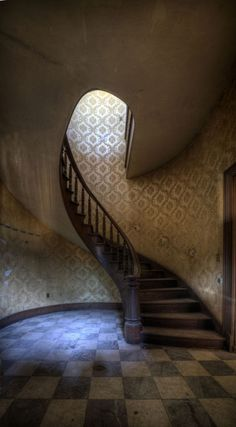 Smithsonian photo finalist... Stairwell by Matthew Murray. Exquisite capture of a glorious place that has become an abandoned beauty. The curves, the light, the tones... this photo speaks volumes.