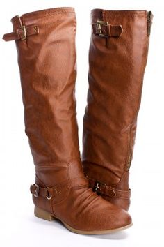 a34d6710f50 TAN CRINKLE FAUX LEATHER KNEE HIGH FLAT BOOTS Uggs For Cheap