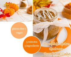 pumpkin-spice-quinoa flake-cake