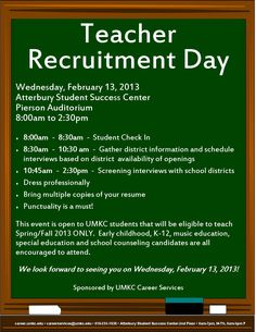 Teacher Recruitment Day 2013