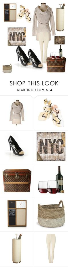 """""""Neutral Colors"""" by kotnourka ❤ liked on Polyvore featuring White House Black Market, Ren-Wil, Louis Vuitton, Libbey, Prinz, Palecek, Global Views and Phase Eight"""