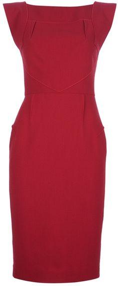 ROLAND MOURET  Red Watson Dress