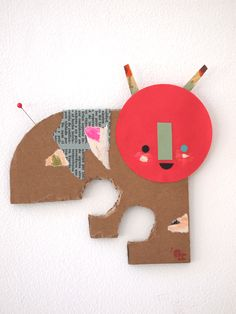 Paper Friends collage by Blanca Helga