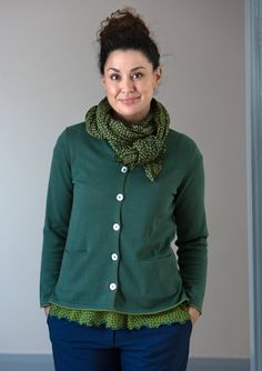 Plaited knit cardigan in eco-cotton – Sweaters & cardigans – GUDRUN SJÖDÉN – Webshop, mail order and boutiques   Colorful clothes and home textiles in natural materials.