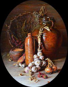 """Лук, чеснок, горчица, перец""., автор Николаев Юрий. Артклуб Gallerix"