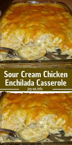 Ingredients : 4 cups diced cooked chicken 1 can cream of chicken soup 8 oz.) can diced green chiles 2 Tbsp. garlic powder pepper to taste 12 corn tortillas Mexican Dishes, Mexican Food Recipes, Dinner Recipes, Dinner Ideas, Chicken Enchilada Casserole, Chicken Enchiladas, Sour Cream Chicken Casserole, Taco Casserole, Enchilada Sauce