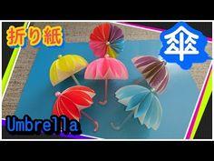 折り紙で傘(Umbrella)作ってみました - YouTube