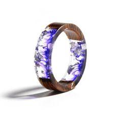 Resin Ring, Resin Jewelry, Jewelry Rings, Handmade Jewelry, Wedding Jewelry, Wedding Rings, Flower Band, Look Retro, Ring Displays