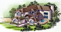 Florida   House Plan 55777