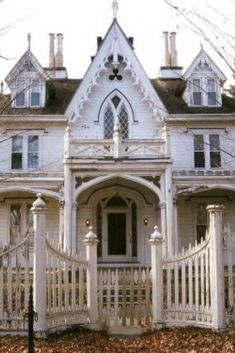 1845 Gothic Revival For Sale In Thompson Connecticut — Captivating Houses - Architektur Victorian Architecture, Gothic Architecture, Historical Architecture, Ancient Architecture, Architecture Details, Classical Architecture, Drawing Architecture, Light Architecture, Architecture Portfolio