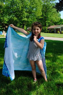 DIY Bathing Suit Cover Up for Girls (from a beach towel)