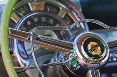 1950 Chrysler New Yorker Coupe Steering Wheel Emblem Photograph by Jill Reger - 1950 Chrysler New Yorker Coupe Steering Wheel Emblem Fine Art Prints and Posters for Sale