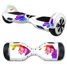 MightySkins Protective Vinyl Skin Decal for Hover Board Self Balancing Scooter mini 2 wheel x1 razor wrap cover sticker Rainbow Smoke -- You can find out more details at the link of the image.
