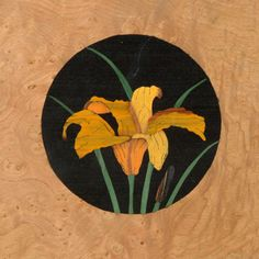 floral marquetry picture