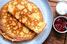 Grandma& Pancake Recipe (Thin Pancakes) - Madden& World - Grandma& Pancake Recipe (Thin Pancakes) – Madden& World - Yummy Treats, Delicious Desserts, Yummy Food, European Cuisine, Danish Food, Beautiful Desserts, No Bake Cake, Great Recipes