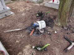 Custos Wrocław - Sprzątanie Grobów: Dewastacja cmentarza w Bogatyni Weed, Outdoor Power Equipment, Marijuana Plants, Garden Tools