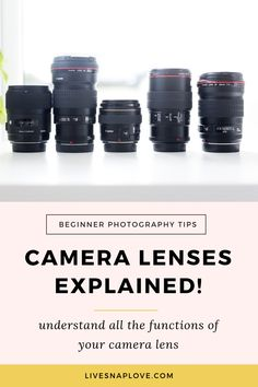 Camera Lenses Explained: Understand All The Functions of Your Camera Lens! Camera lenses explained - see what all the functions of your DSLR lenses are! Dslr Photography Tips, Photography Tips For Beginners, Photography Lessons, Digital Photography, Photography Equipment, Photography Business, Mad Photography, Landscape Photography, Ethereal Photography